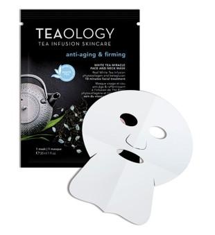 Teaology White Tea Miracle Face & Neck Mask Veido kaukė su baltąja arbata, 1vnt. | inbeauty.lt