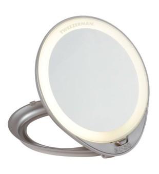 Tweezerman Adjustable Lighted Mirror Šviečiantis pastatomas veidrodėlis, 1vnt | inbeauty.lt