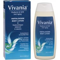 Vivania Hyaluron & Q10 Anti Aging Body Lotion, 200 ml