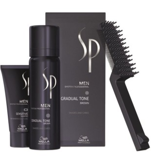 Wella SP Men Gradual Tone Brown Žilus plaukus tonuojančios putos (rudos), 60+30ml | inbeauty.lt