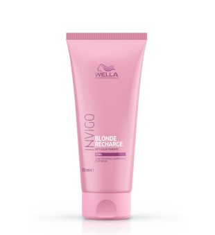 Wella Invigo Blonde Recharge Cool Color Refreshing Conditioner Šaltą atspalvį suteikiantis balzamas, 200 ml | inbeauty.lt