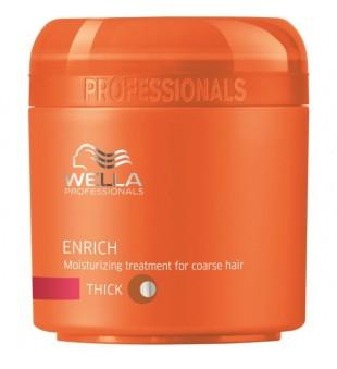 Wella Enrich Moisturizing Treatment For Coarse Hair Drėkinanti kaukė šiurkštiems plaukams, 150ml | inbeauty.lt