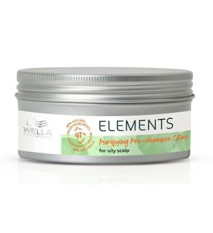 Wella Elements Pre Shampoo Clay Valantis molis riebiai galvos odai, 225ml | inbeauty.lt