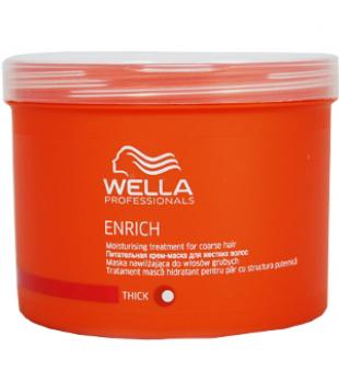 Wella Enrich Moisturizing Treatment For Coarse Hair Drėkinanti kaukė šiurkštiems plaukams, 500 ml | inbeauty.lt