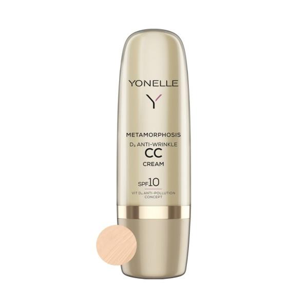Metamorphosis D3 Anti-Wrinkle CC Cream SPF10 Light Neutral Priešraukšlinis CC kremas, 50ml